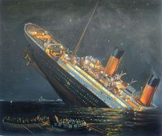 Titanic HandPainted on Oil canvas 20x24 by GaryArtShowcase on Etsy, $189.00