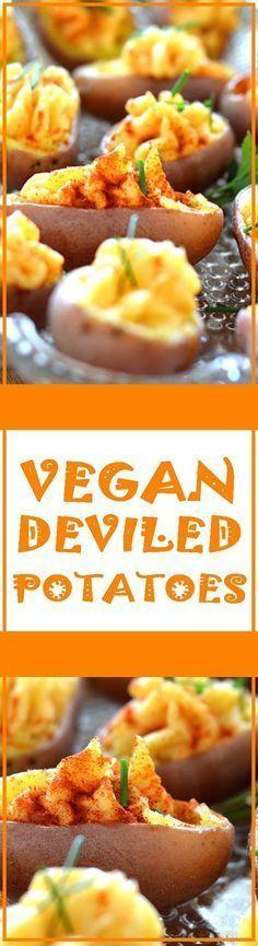 Vegan Deviled Potatoes