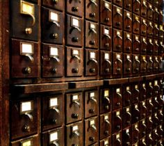 Old Fashioned Card Catalogues