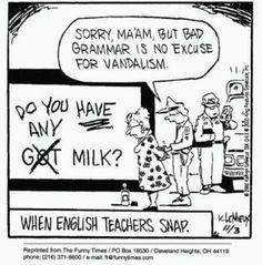 English teacher insulting me?