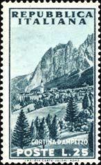 Emissione 1953. Cortina d'Ampezzo