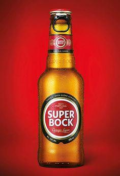 Cerveja portuguesa Super Bock | #packaging #design