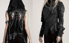 | Post-apocalyptic Avant-Garde Fashion | #fashion #clothing #woman #leather #jacket