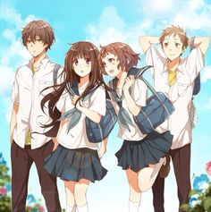 Find images and videos about anime couple, hyouka and ibara mayaka on We Heart It - the app to get lost in what you love. Anime Vf, Manga Anime, Manga Art, Chibi, Otaku, Fille Anime Cool, Humour Geek, Tous Les Anime, Art Kawaii