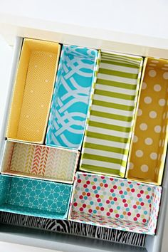 DIY Cereal box organizers..cool idea..i have extra fabric laying around for these too!