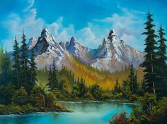 Choose your favorite bob ross paintings from millions of available designs. All bob ross paintings ship within 48 hours and include a money-back guarantee. Watercolor Landscape, Landscape Art, Landscape Paintings, Bob Ross Landscape, Beautiful Paintings Of Nature, Nature Paintings, Tree Paintings, Painting Digital, Bob Ross Art