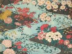 Flowers And Water Olga Hirsch Collection Of Decorated Papers Bequeathed To The British Library In Late Century Chiyogami With Chrysanthemums Symbolizing