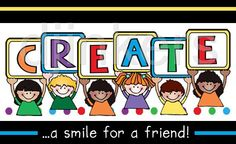 create, kids clip art, kid letters, create a smile