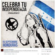 """""""Los Juegos del Hambre"""" desean Feliz Independencia a Honduras"""