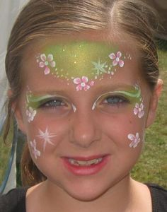 flower face paint | flower face painting designs