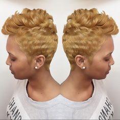 Atlanta Based Stylist 💇🏽💁🏽 That Bob Tho! Short Sassy Hair, Short Hair Cuts, Short Hair Styles, Pixie Cuts, Short Pixie, Pixie Styles, Short Shag, Love Hair, Great Hair