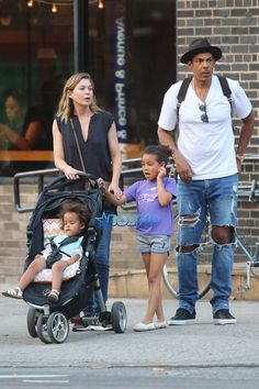 ellen pompeo with Daughters Stella and Sienna | Ellen Pompeo Raising Black Daughters To See Strong Black Female Images ...