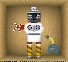 Cute robot & Cardboard