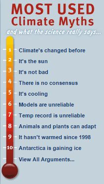 DISPEL CLIMATE MYTHS AND DENIAL: Global Warming & Climate Change Myths