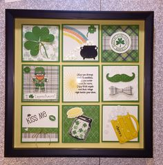 Collage Frames, Paper Frames, Box Frames, Collage Ideas, Calendar Design, Calendar Ideas, Valentines Frames, St Patricks Day Cards, 3d Paper Crafts