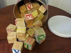 Vintage 1970 Playskool Alphabet Blocks in Original by PastBack, $10.00