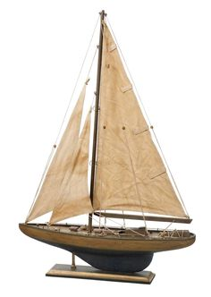 Simple country style model yacht