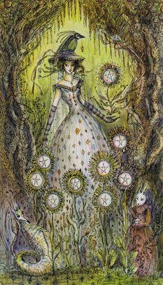 Nine of Pentacles by Paulina Cassidy (Paulina Tarot)