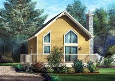 House Plan 49834 | Narrow Lot Plan with 969 Sq. Ft., 1 Bedrooms, 1 Bathrooms at family home plans