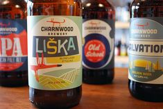 Charnwood Brewery Bottles