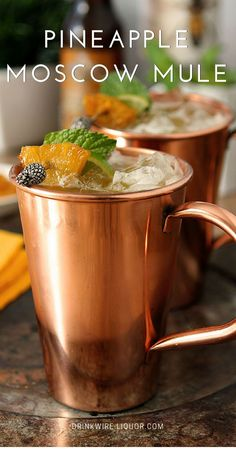 Step up your regular Moscow Mule for the coming months. Roasted pineapple and brown sugar add an element to the vodka classic that you will certainly love.