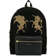 Alexander McQueen embroidered Bullion backpack (148.520 RUB) ❤ liked on  Polyvore featuring men s fashion fdeefe9bd8382