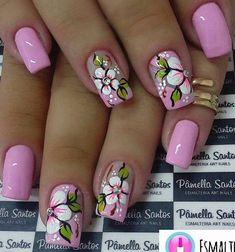 Try some of these designs and give your nails a quick makeover, gallery of unique nail art designs for any season. The best images and creative ideas for your nails. Flower Nail Designs, Toe Nail Designs, Spring Nail Art, Spring Nails, Spring Art, Early Spring, Acrylic Nail Art, Fabulous Nails, Flower Nails