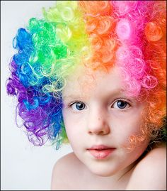 I had a wig like this for my clown costume....