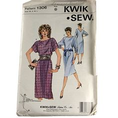 Kwik Sew Sewing Pattern 1306 Misses Knit Dress Size XS,S,... https://www.amazon.com/dp/B01BYVLJ44/ref=cm_sw_r_pi_dp_x_sAXXybJ2PS637