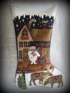 Cheswic Company ~ Letters to Santa Christmas Stocking KIT by by cheswickcompany, $19.95
