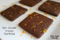 Keep it simple and elegant withthese Dark Chocolate Orange Shortbread Cookies from White Lights on Wednesday. #BeAGoodCookie