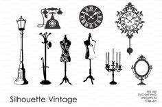 Vintage Silhouette Vector Decal by pdeasyprint on @creativemarket