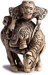 Rey Mono Marfil Netsuke
