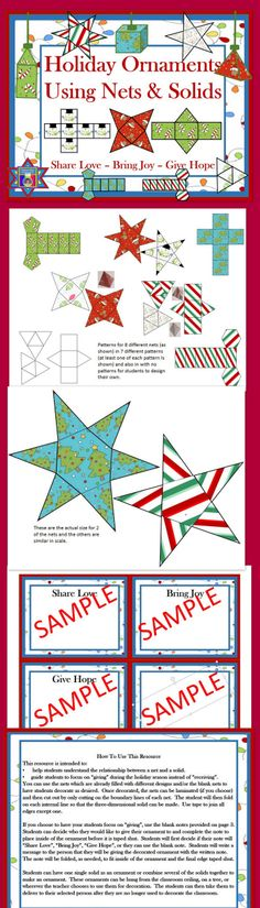 Nets and Solids - Creating holiday ornaments