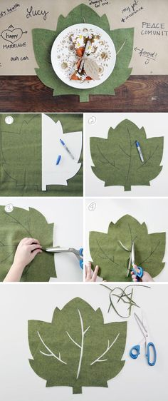 Felt Placemat DIY | 20 Thanksgiving Table Settings to WOW Your Guests - Thanksgiving Decorations by Pioneer Settler at http://pioneersettler.com/thanksgiving-table-settings-thanksgiving-decorations/