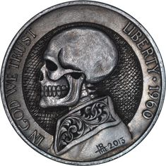 Skull Hobo Nickels. This would make a good card protector for poker.
