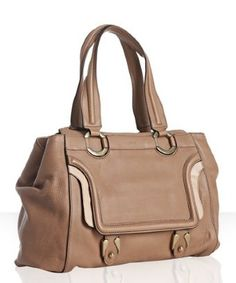 Chloe nut leather 'Patty' shopper tote | BLUEFLY up to 70% off designer brands - StyleSays