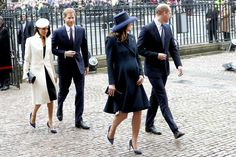Kate Middleton Photos - (L-R) Meghan Markle, Prince Harry, Catherine, Duchess of Cambridge and Prince William, Duke of Cambridge attend the 2018 Commonwealth Day service at Westminster Abbey on March 12, 2018 in London, England. - Commonwealth Day Service And Reception