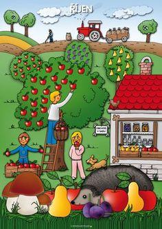 Říjen Autumn Activities For Kids, Color Activities, Weather For Kids, Art For Kids, Crafts For Kids, Summer Coloring Pages, Oktoberfest Food, Egg Carton Crafts, Preschool Education