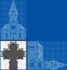 Schelfkirche Church - GrabCraft - Your number one source for MineCraft buildings, blueprints, tips, ideas, floorplans!