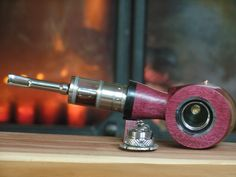 Handcrafted E Pipe Mod, Touch Control, Amaranth Wood, high gloss