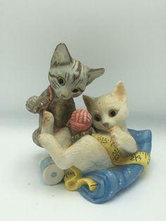Rascals Franklin Mint Gail FERRETTI Hand Painted Porcelain Figurine Cats Kittens | eBay