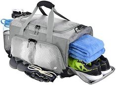 Ultimate Gym Bag The Crowdsource Designed 20 Duffel by Focusgear Grey for sale online Mens Gym Bag, Gym Bags For Men, Gym Bag Essentials, Romantic Gifts For Him, Sweat Workout, Best Gym, Workout Accessories, Gym Wear, Duffel Bag