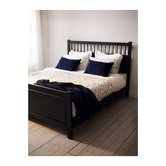 hemnes ikea bed shawn finley lets paint our bed black and hemnes night stands black - Ikea Hemnes Bed Frame