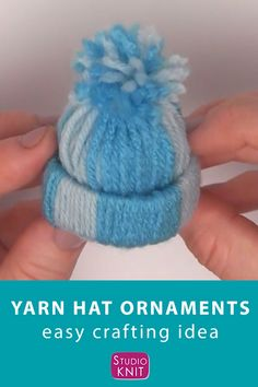 Christmas Ornament Crafts, Xmas Crafts, Cute Crafts, Crafts To Do, Christmas Diy, Holiday Ornaments, Creative Crafts, Crafts With Yarn, Easy To Make Christmas Ornaments