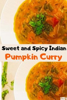 Low carb, vegan Indian Pumpkin curry made with simple spices and coconut milk is a fantastic kids-friendly weeknight dinner idea  #pumpkincurry #veganpumpkinrecipe #easyindianfoodrecipe #pumpkinwithcoconutmilk