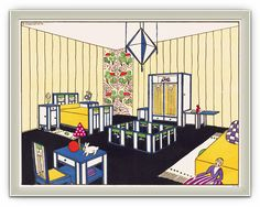 French Child's Bedroom - Art Deco style - 1920s -1930s. Grabink