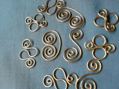 Copper Wire Wrap links connectors dangles for by squibbles76, $3.99