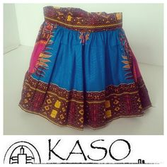 Fit for an African princess!  #dressedby #kasomw #madeinmalawi #malawi #dashikiskirt #dashikiprint #bluedashiki #skirt #africanstyle #africanprintskirt…