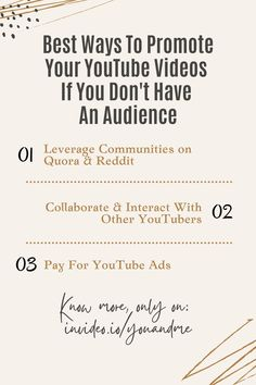 Best ways to promote your YouTube videos. Steve Dotto Show Ep.6: The Ultimate Guide On How To Get More Views On YouTube with Nick Nimmin. Visit the whole master class video and learn all about YouTube Marketing! How To Get, How To Plan, You Youtube, You Videos, Master Class, Youtubers, Channel, Ads, Marketing